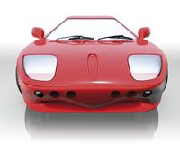Red sport car front Stock Photo