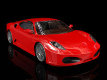Red sport car, front view Royalty Free Stock Image