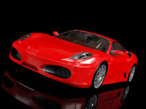 Red sport car, front view Stock Photo