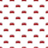 Red sport car pattern seamless Stock Photos
