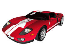 Red sport car vector illustration isolated on white Stock Photos