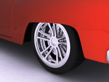 Red Sport Car Wheel Stock Images