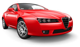 Red sport compact coupe Stock Photography