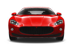 Red sport coupe car Royalty Free Stock Image