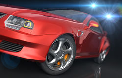 Red sport coupe Royalty Free Stock Photo