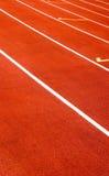 Red sport field Stock Photo