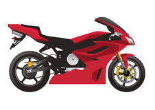 Red Sport Motorcycle. Vector. Simple and easy separation of elements for any changes needed Stock Images
