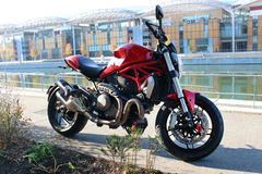 Red Sport Motorcycle Royalty Free Stock Photo
