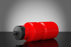Red Sport Plastic Water Bottle Royalty Free Stock Image