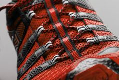 Red sport shoe Stock Images