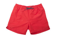 Red Sport shorts Stock Image