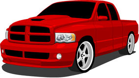 Red Sport Truck Royalty Free Stock Photos