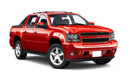 Red sport utility truck. On white background Royalty Free Stock Photo