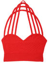 Red sports bra Royalty Free Stock Photography