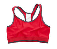 Red Sports Bra. Isolated on white background Royalty Free Stock Photo