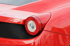 Red sports car. Sportive car with designed lights in the back Stock Image