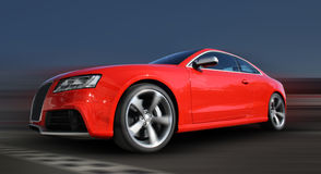 Red Sports car. On a colorful background Royalty Free Stock Photo
