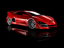 Red sports car 2 Royalty Free Stock Images