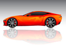 Red sports car Royalty Free Stock Images