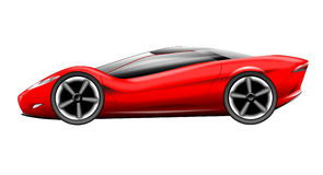 Red sports car Royalty Free Stock Photo