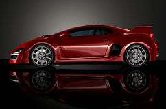 Red sports car 4 Royalty Free Stock Image