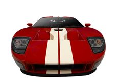 Red sports car. On a white background Royalty Free Stock Photo