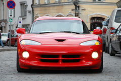 Red Sports Car. Famous American Sports Car from Nineties Stock Images
