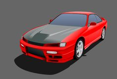Red sports car Stock Image