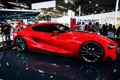 Red sports car at the auto show Stock Photography