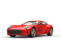 Red sports car - beauty studio shot Royalty Free Stock Photos