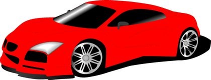 Red sports car - BMW II Stock Photos