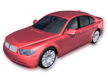 Red Sports Car with Clipping Path Royalty Free Stock Photography