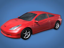 Red Sports Car with Clipping Path Stock Photos