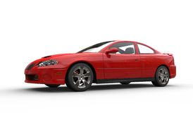 Red Sports Car Front Side View Stock Photography