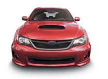 Red Subaru car - front view Stock Images