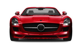 Red Sports Car Front View Stock Illustration Illustration Of