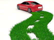 Alternative fuel car - green road Stock Photo