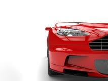 Red sports car - headlight closeup Royalty Free Stock Photos