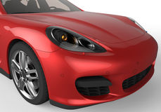 Red sports car headlight Royalty Free Stock Image
