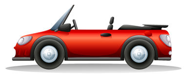 A red sports car. Illustration of a red sports car on a white background Royalty Free Stock Photos