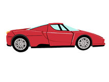 Red sports car 1. On the image is a car in Red colour.different colours this car are in my portfolio Royalty Free Stock Image