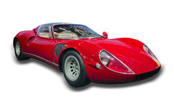 Red Sports Car Isolated Royalty Free Stock Image