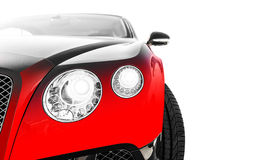 Red sports car. Isolated over white background Stock Image