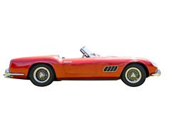 Red sports car isolated royalty free stock photography