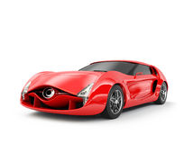 Red sports car isolated on white background Stock Photography