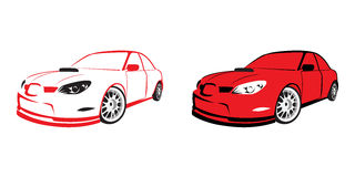 Red sports car - logo Royalty Free Stock Photo