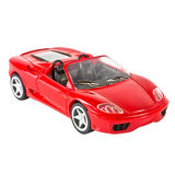 Red sports car miniature. On white background Stock Image