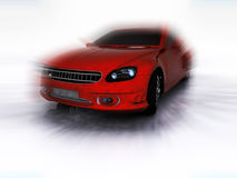 Red Sports Car in motion Royalty Free Stock Images