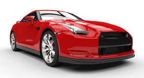 Red Sports Car Power Photo Royalty Free Stock Image