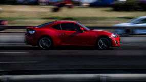 Red sports car. Subaru BRZ Royalty Free Stock Images